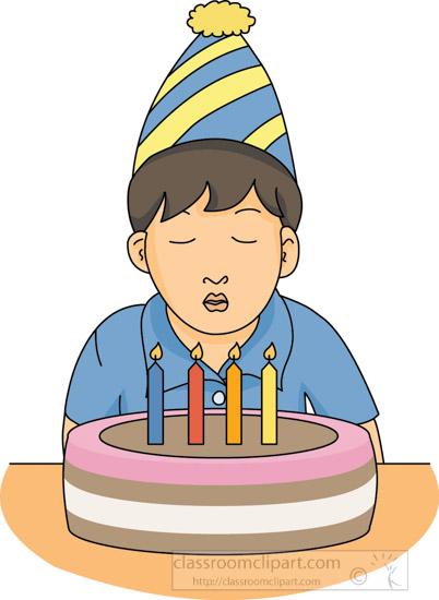 Birthday : boy-with-birthday-cake-11612 : Classroom Clipart