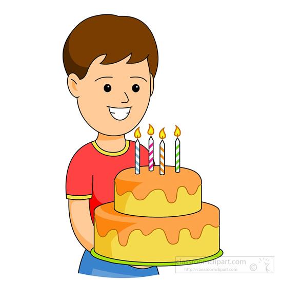 Birthday : boy-with-birthday-cake-candles-131 : Classroom ...