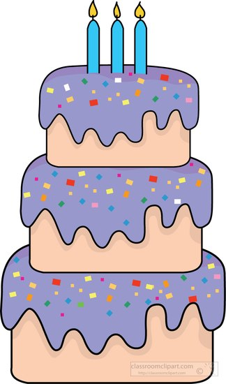 Birthday : three-tier-birthday-cake-frosting-clipart ...