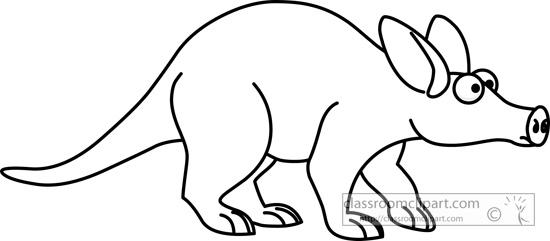 aardvark_02_outline_clipart_116.jpg
