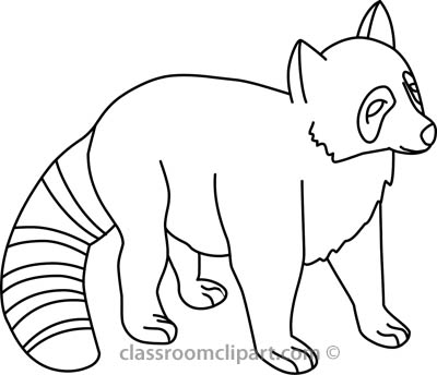 baby raccoon 312 03 outline   Raccoon Clipart Black And White
