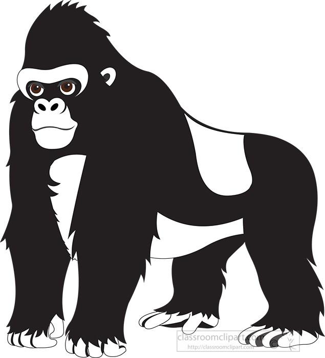 black-outline-large-gorilla-stadning-on-all-fours-clipart.jpg