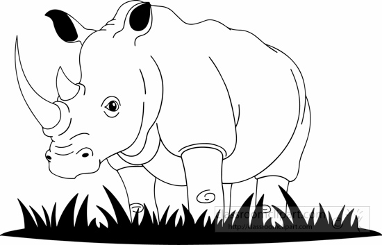 Animals Black and White Outline Clipart - black-white ...