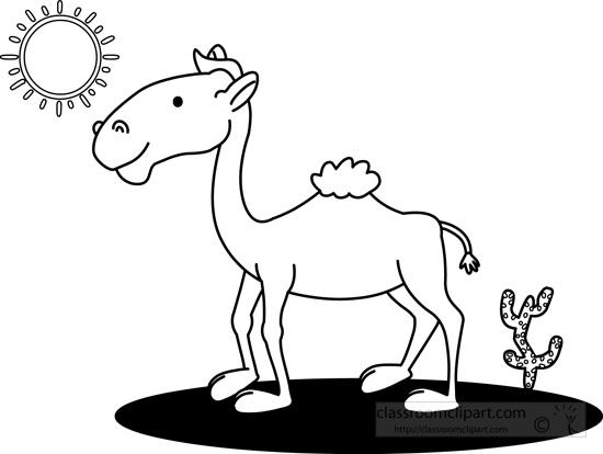 camel-in-desert-black-white-outline-clipart.jpg