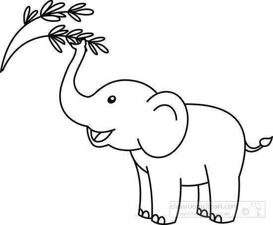 cute-elephant-snaching-branch-black-white-outline-clipart.jpg