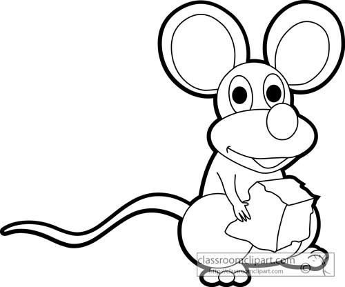 cute_mouse_holding_cheese_outline_clipart_23b.jpg
