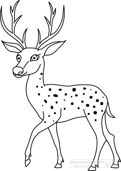 animals clipart deer black white outline clipart 72099 Patterns Free Farm Printable Preschool Clip Art Free Printable