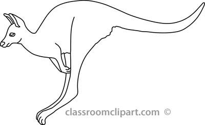 Kangaroo Clip Art Black And White Kangaroo Clipart Black And
