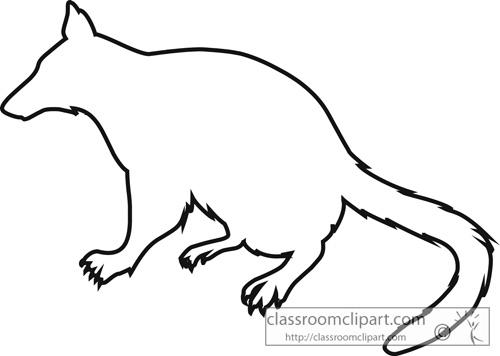marsupial_numbat_outline_clipart_713.jpg
