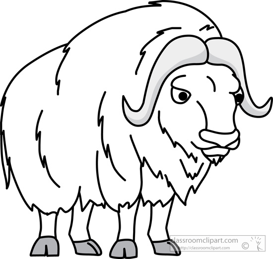 musk_ox_02_outline_clipart_118.jpg