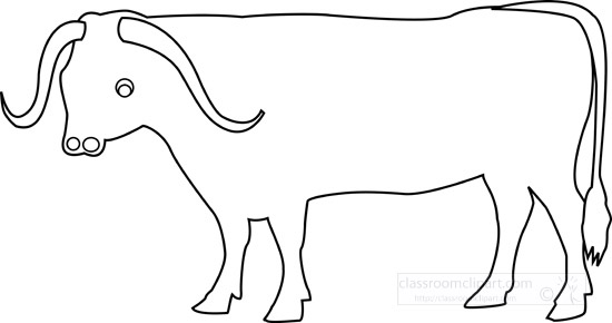Animals : ox-animal-outline : Classroom Clipart