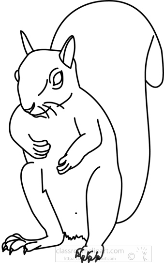 Outline of a Squirrel http://classroomclipart.com/clipart-view/Clipart/Black_and_White_Clipart/Animals/squirrel_314_04_outline_jpg.htm