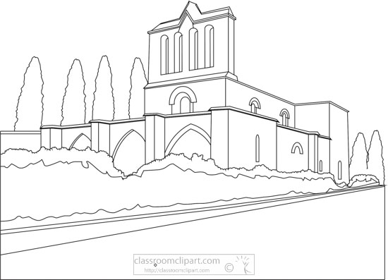 bellapais-abbey-cyprus-black-white-outline-clipart.jpg