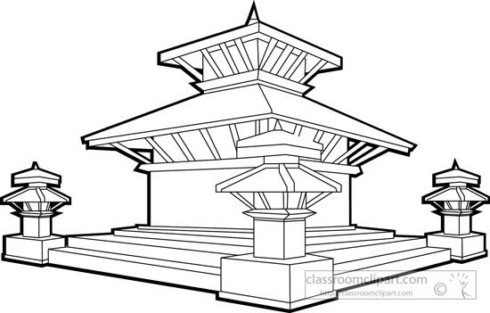 durbar-square-in-kathmandu-valley-nepal-bw-outline-clipart.jpg