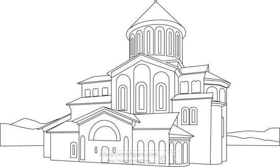 gelati-monastery-georgia-black-white-outline-clipart.jpg