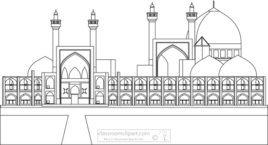 imam-shah-mosque-iran-black-white-outline-clipart.jpg