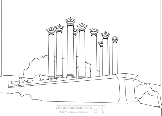 jerash-temple-of-artemis-jordan-black-white-outline-clipart.jpg