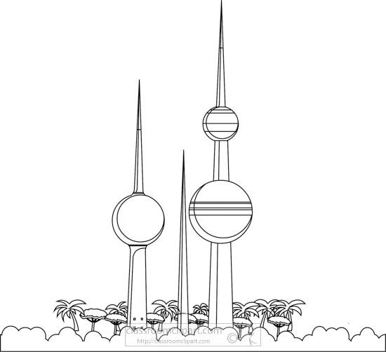 kuwait-towers-abraj-al-kuwait-black-white-outline-clipart.jpg