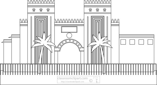 national-museum-of-baghdad-iraq-black-white-outline-clipart.jpg