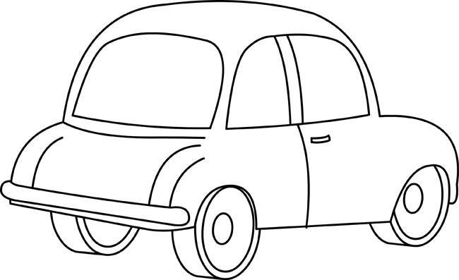 Cars Black And White Outline Clipart
