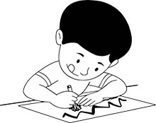 free black and white children outline clipart clip art