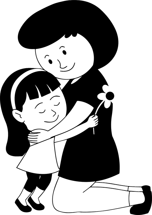 black-white-happy-mother's-day--daughter-giving-flower-and-hug-to-mother-black-white-clipart.jpg