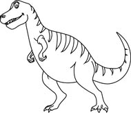 Free Black and White Dinosaurs Outline Clipart - Clip Art Pictures ...
