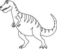 black white dinosaur clipart size 74 kb