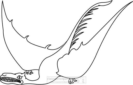 pterodactyles-dinosaur-1111-bw-outline-clipart.jpg