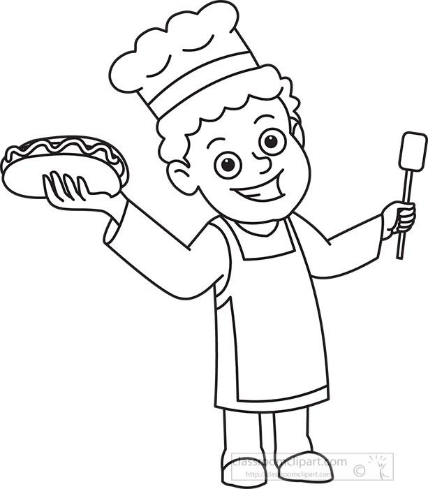 cook-holding-grilled-hotdog-black-outline-clipart.jpg