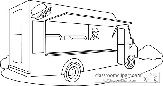 Food Clipart Truck Outline