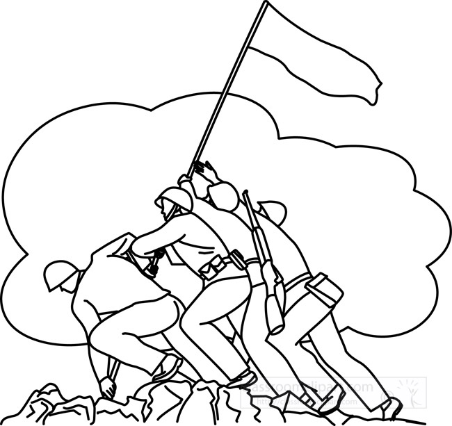soldiers_raising_flag_veterans_day_outline.jpg