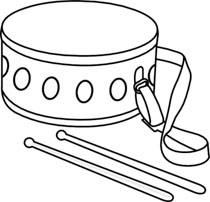 Drum Clipart Hits 909