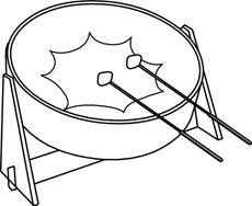 Steel Pan Clip Art – Cliparts