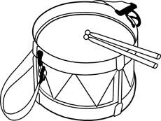 Tabor Drum Clipart Hit...