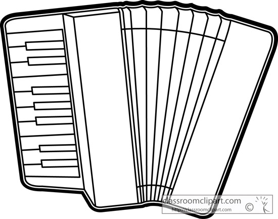 music instruments clipart black and white - photo #36