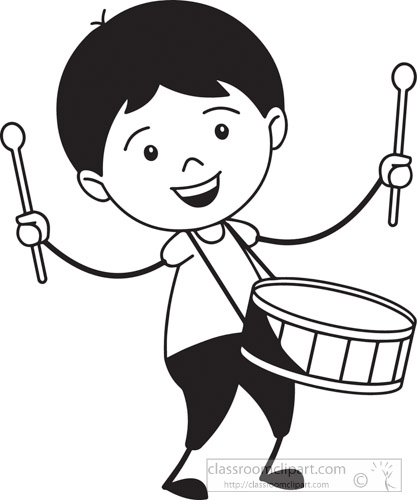 music instruments clipart black and white - photo #34