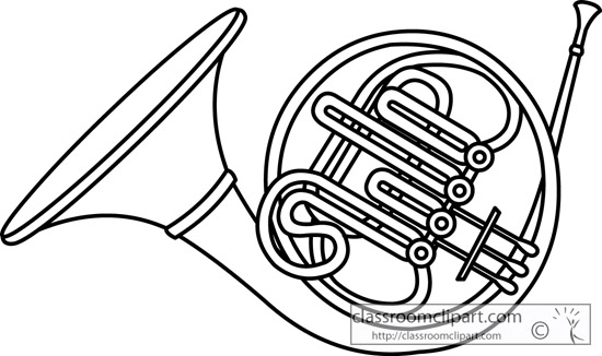 french horn brass instrument outline 13 jpgFrench Horn Clipart