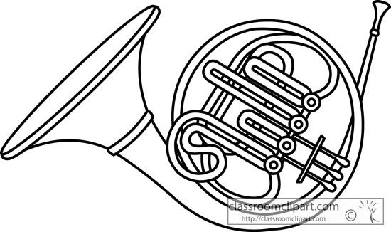 french horn brass instrument outline 13 jpgFrench Horn Clipart