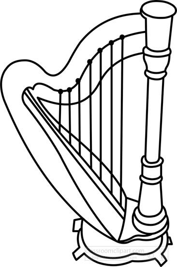 harp-musical-instrument-black-white-outline-clipart-140923.jpg