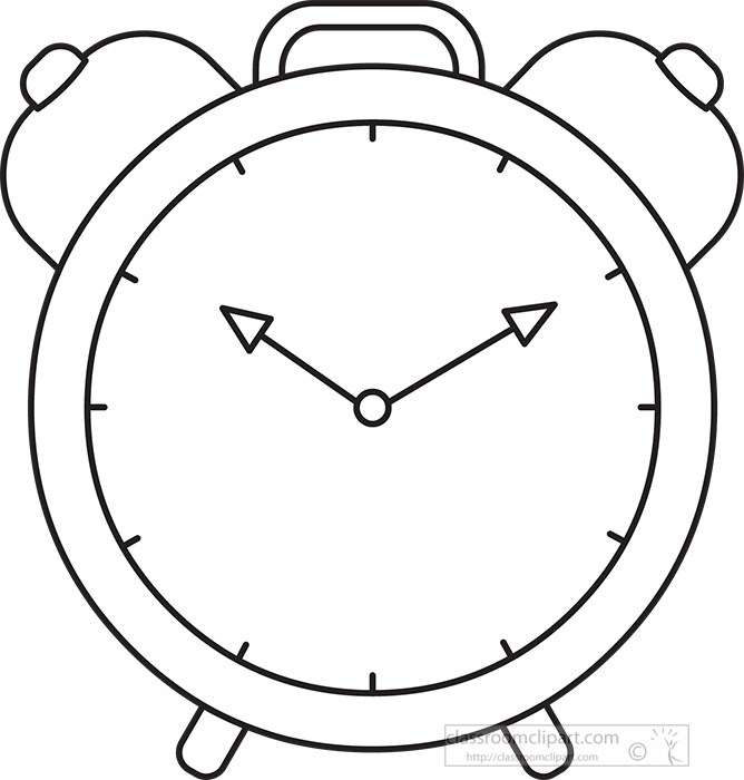 clock clipart black and white free - photo #30