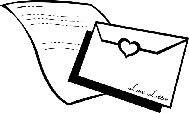 Objects Clipart Love Letter Pic Outline Classroom Clipart