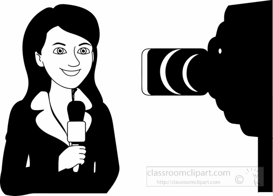 black-white-reporter-lady-in-front-of-camera-black-white-clipart.jpg