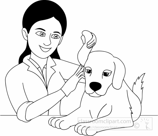 Black White Veterinarian Black White Clipart. Black White Veterinarian Black  White Clipart Size: 124 Kb From: Occupations