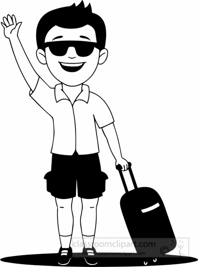 people clipart black white holiday man going on holiday clipart rh classroomclipart com holiday clipart images free holiday clip art border