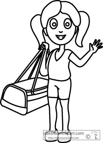 Vacation Clipart Black And White