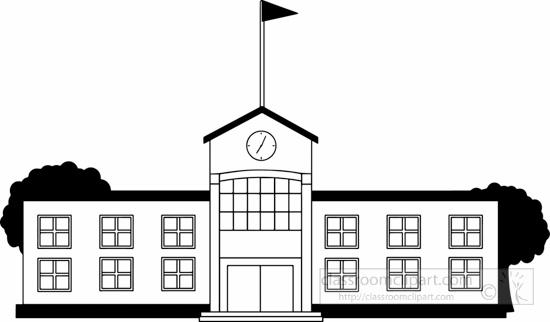 School : black-white-school-building-clipart : Classroom ...