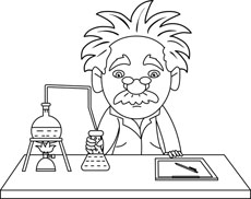 Free Black And White Science Outline Clipart