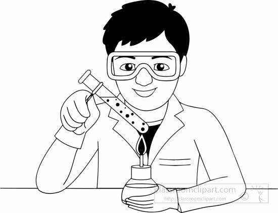 laboratory clip art black and white