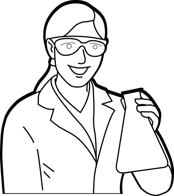 chemist_holding_erlenmeyer_flask_outline.jpg